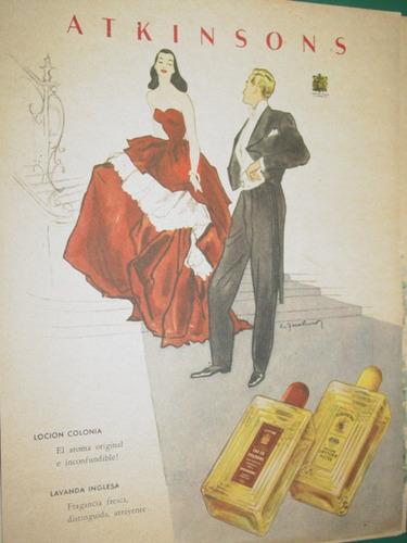 publicidad antigua perfumes locion frascos atkinsons