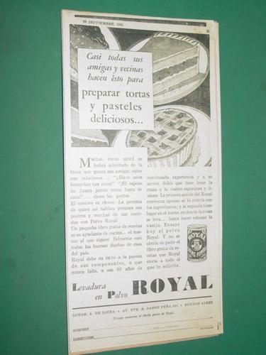 publicidad antigua polvos royal lata receta tortas mod 1