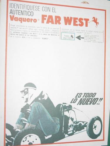 publicidad antigua ropa vaquero far west corredor karting