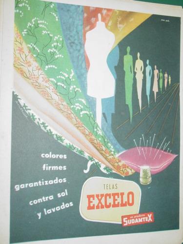 publicidad antigua telas excelo sudamtex colores firmes