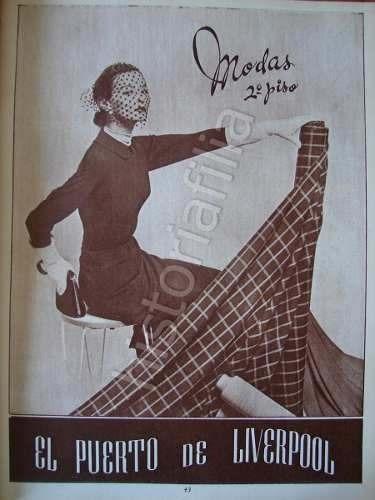publicidad antigua tienda el puerto de liverpool 1951