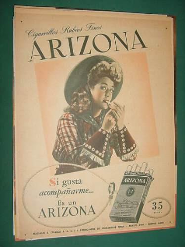 publicidad arizona cigarrillos rubios finos gusta clipping