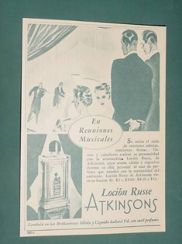 publicidad - atkinsons locion russe suntuosa frascos