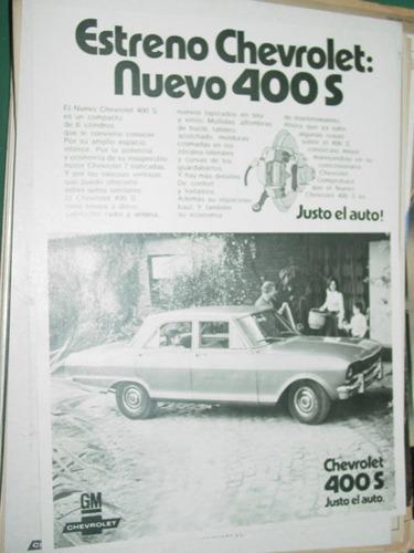 publicidad automoviles chevrolat estreno chevrolet 400 auto