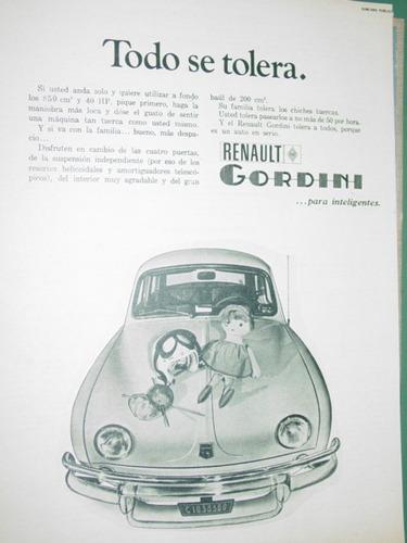 publicidad automoviles gordini renault todo se tolera coches