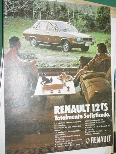 publicidad automoviles renault 12 totalmente sofisticado