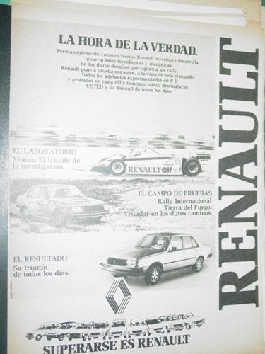 publicidad automoviles renault monza rally renault 18