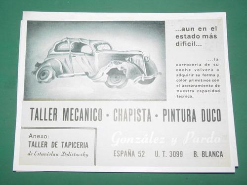 publicidad bahia blanca taller mecanico gonzalez y pardo