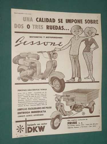 publicidad - bessone motonetas motofurgones calidad