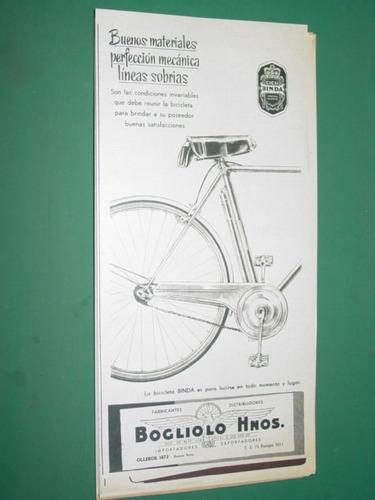 publicidad bicicletas binda bogliolo hnos. mod 1