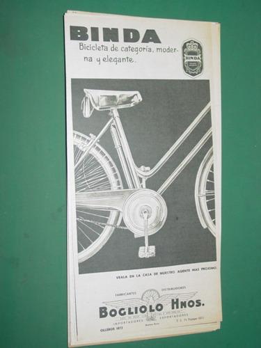 publicidad bicicletas binda bogliolo hnos. mod 3
