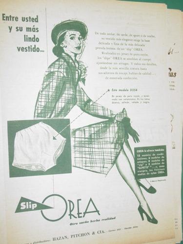 publicidad bombachas slip orea entre ud. y su vestido