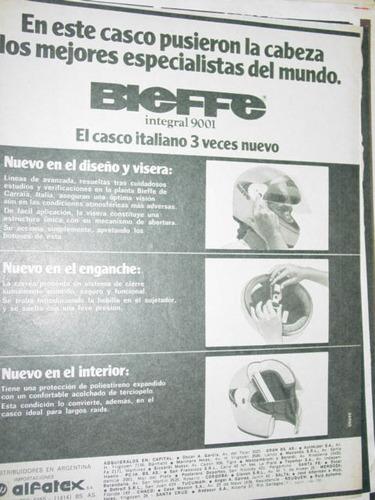 publicidad cascos bieffe italianos alfatex argentina clippin