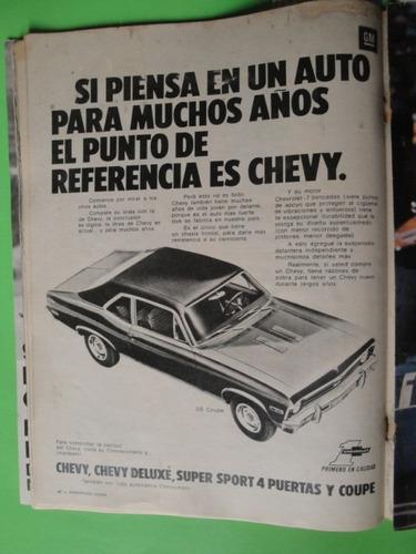 publicidad chevy ss coupe año 1972
