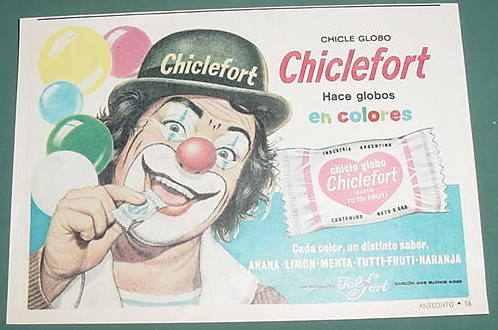 publicidad chicles globo chiclefort felfort firulete mod. 1