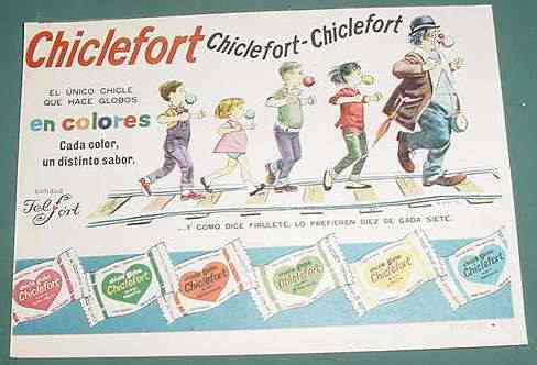 publicidad chicles globo chiclefort felfort firulete mod. 2