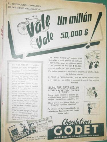 publicidad chocolatines godet concurso niños millonarios