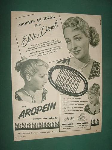 publicidad clipping broches cabello aropein elda desel