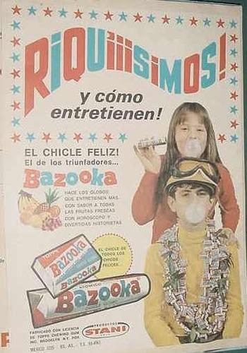 publicidad clipping chicle globo bazooka riquisimos niños
