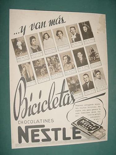 publicidad clipping chocolatines nestle premios bicicletas a