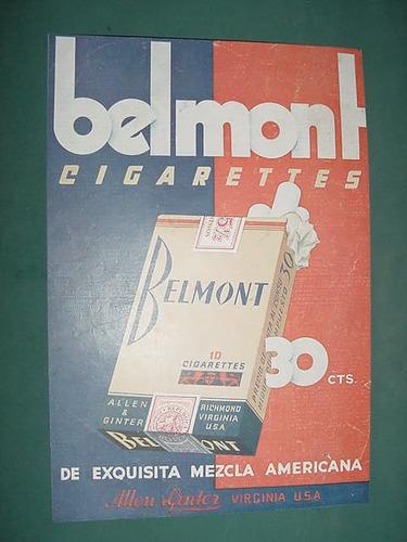 publicidad clipping cigarrillos belmont allen & ginter usa