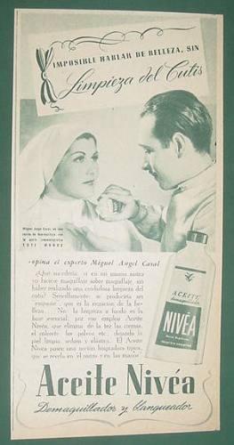 publicidad clipping cinema toti muñoz aceite nivea cutis