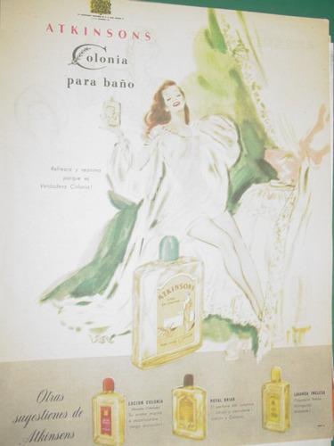 publicidad clipping colonia para baño atkinsons refresca
