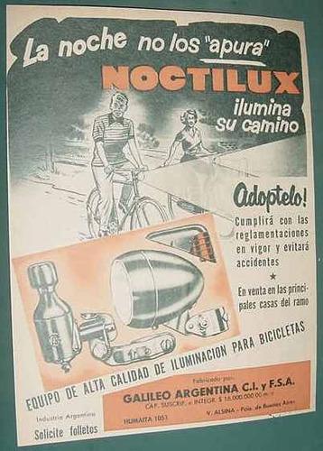 publicidad clipping equipos iluminacion bicicletas noctilux