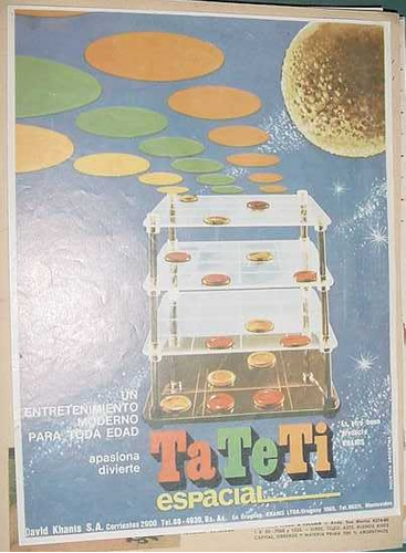 publicidad clipping juguetes ta te ti espacial david khanis