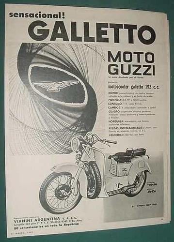 publicidad clipping motocicletas galletto guzzi motoscooter