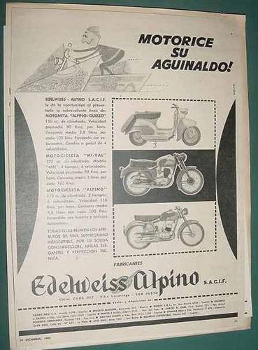 publicidad clipping motocicletas motonetas edelweiss alpino