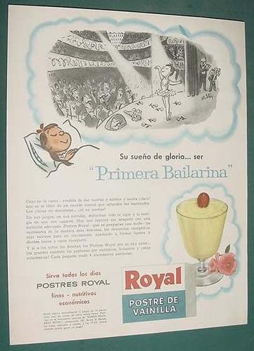 publicidad clipping postre vainilla royal primera bailarina