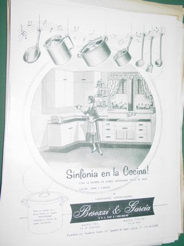 publicidad clipping recorte bateria cocina besozzi & garcia