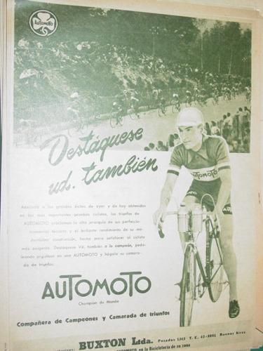 publicidad clipping recorte bicicletas automoto buxton