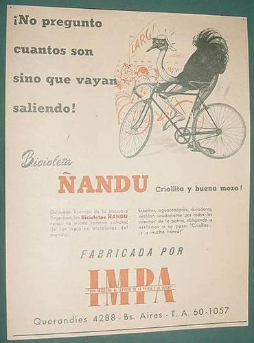 publicidad clipping recorte bicicletas ñandu no pregunto