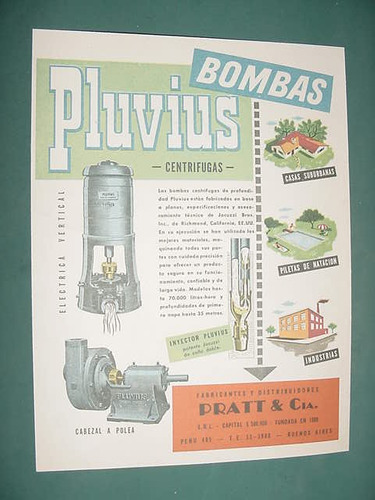 publicidad clipping recorte bombas agua pluvius pratt centrf