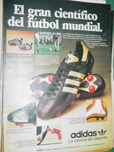 publicidad clipping recorte botines futbol adidas mundial