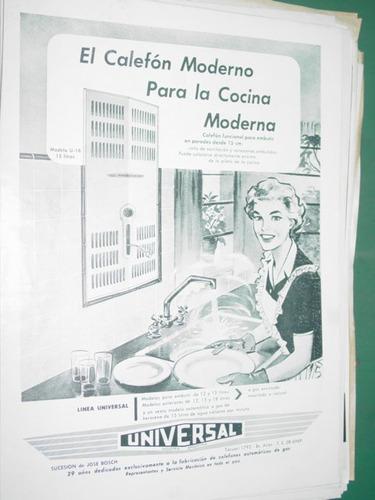 publicidad clipping recorte calefones universal bosch mod2