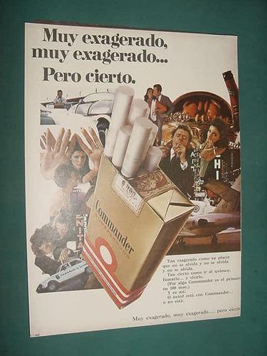publicidad clipping recorte cigarrillos commander exagerado