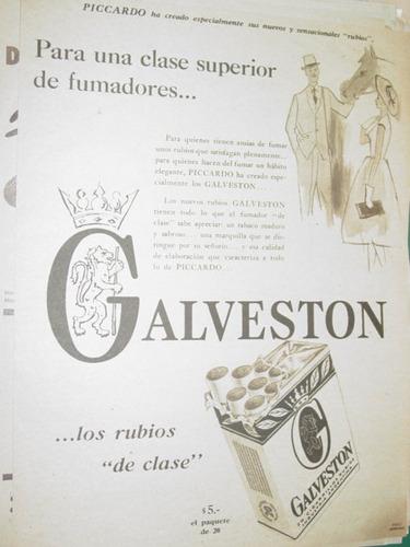 publicidad clipping recorte cigarrillos galveston clase