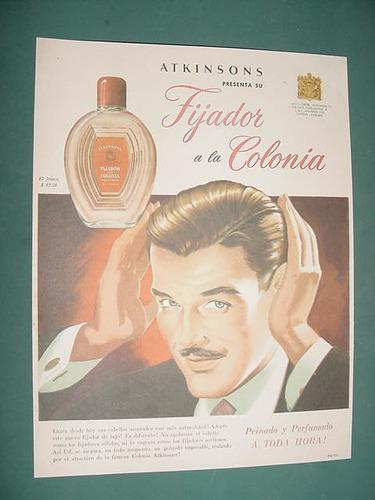 publicidad clipping recorte fijador colonia atkinsons frasco