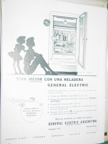 publicidad clipping recorte heladeras general electric mod4