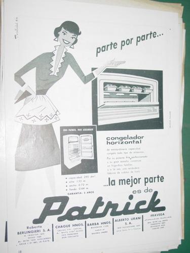 publicidad clipping recorte heladeras patrick congelador