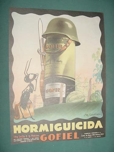 publicidad clipping recorte insecticida hormiguicida gofiel
