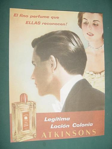 publicidad clipping recorte locion colonia atkinsons frasco