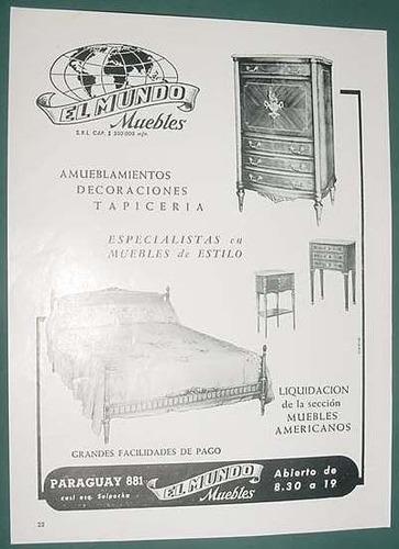 publicidad clipping recorte muebles el mundo amoblamientos