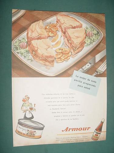 publicidad clipping recorte pavita escabeche armour lata