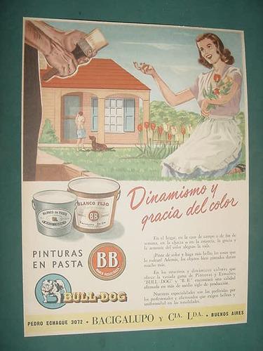 publicidad clipping recorte pinturas pasta bulldog dinamismo