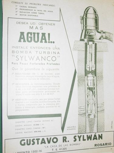 publicidad clipping recorte turbina bombas agua sylwanco