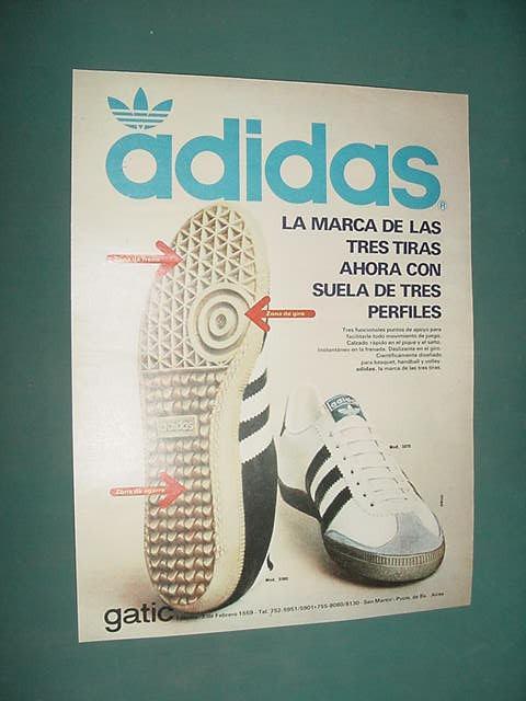 Publicidad Clipping Recorte Zapatillas adidas Suela Perfiles $ 54,81